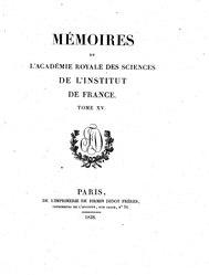 Mémoires de l'Académie royale des sciences de l'Institut de France