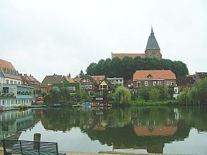 Blick auf die Möllner Altstadt