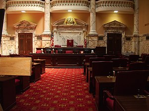 Maryland State House - Chamber of the Maryland State Senate