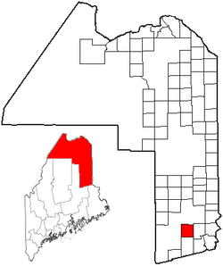 Location of Glenwood Plantation, Maine