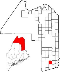 Location of Glenwood Plantation, Maine