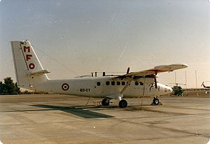 Multinational Force and Observers - French Air Force Twin Otter on the El Gorah Flight Line 1989
