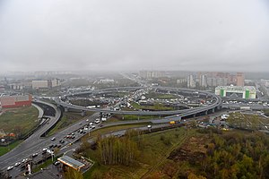Moscow Ring Road - Image: MKAD Kashirskoye Highway
