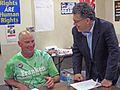 "MN- LIUNA 1091's Larry ""the Laborer"" Anderson & Senate candidate Al Franken (2951291359).jpg"