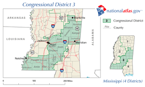 United States House of Representatives elections in Mississippi, 2008 - Image: MS 3rd Congressional District