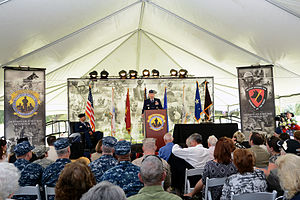 Military Working Dog Teams National Monument - Lieutenant General Holmes speaks at the dedication ceremony