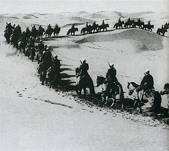 War in Ningxia (1934) - Cavalrymen of the Ma clique around 1933