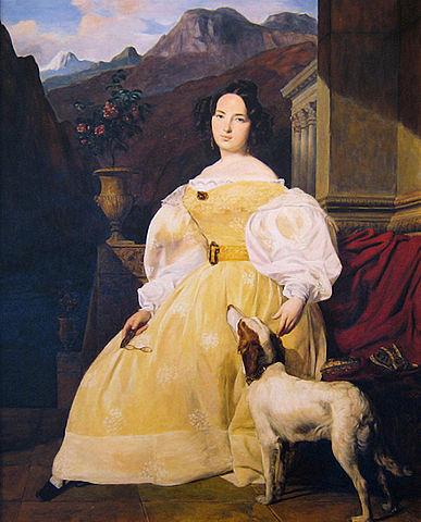 Портрет графини Ганской, художник Фердинанд Георг Вальдмюллер (1835)