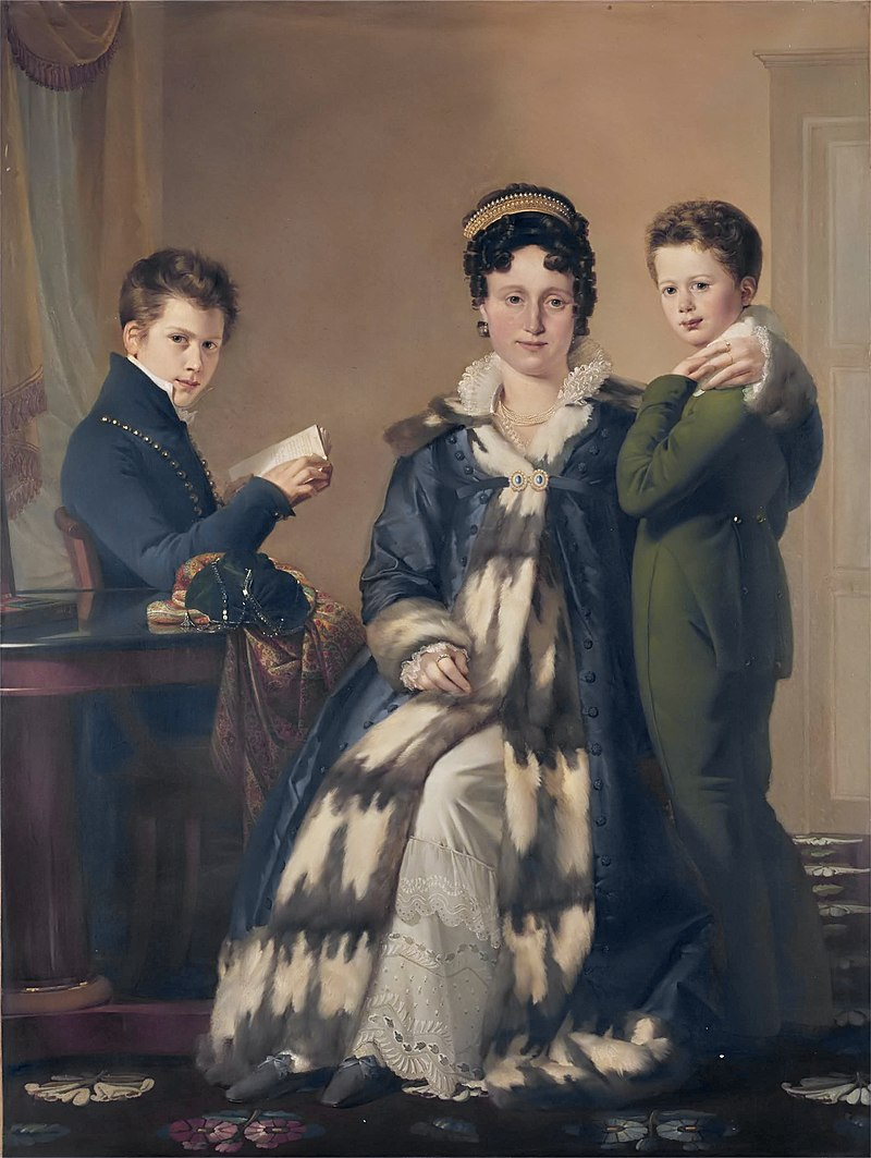 Madame Le Hideux et de ses deux fils Paul et Victor, by Claude Marie Dubufe.jpg