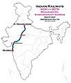 Maharashtra Samparkkranti Express (NZM - BDTS) Route map.jpg