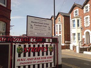 Maidenhead United F.C. - The entrance to York Road