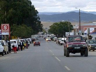 Mount Frere - Main street of Mount Frere