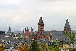 Mainz Old Town View from the citadel (2003)