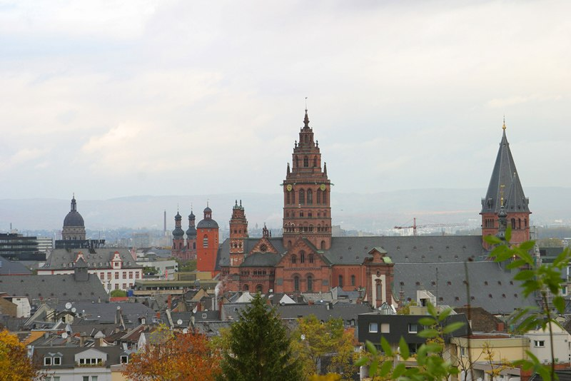 Mainz Old Town view from the citadel (November 2003)