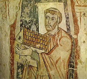 St. Benedikt (Mals) - Image: Malles venosta, il donatore offre la cappella