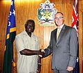 Manasseh Sogavare with Australian High Commissioner Andrew Byrne December 2014.jpg