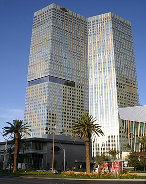 Mandarin Oriental, Las Vegas - Mandarin Oriental as seen from across the Las Vegas Strip