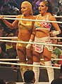 Mandy Rose and Sonya Deville at WrestleMania 34 April 2018.jpg