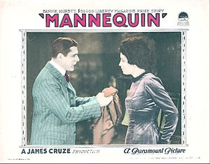 Mannequin (1926 film) - lobby card