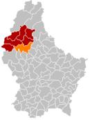 Localisation de Esch-sur-Sûre au Luxembourg