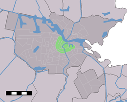 Amsterdam-Centrum (green) as part of Amsterdam