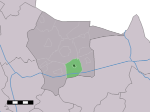 Fleringen - Image: Map NL Tubbergen Fleringen