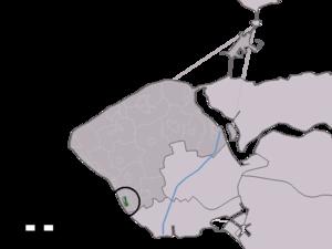 Dishoek - Image: Map NL Veere Dishoek