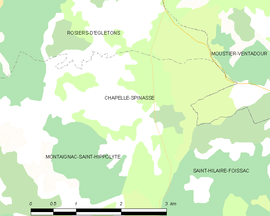 Mapa obce Chapelle-Spinasse