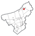 Map of Bangor, Northampton County, Pennsylvania Highlighted.png