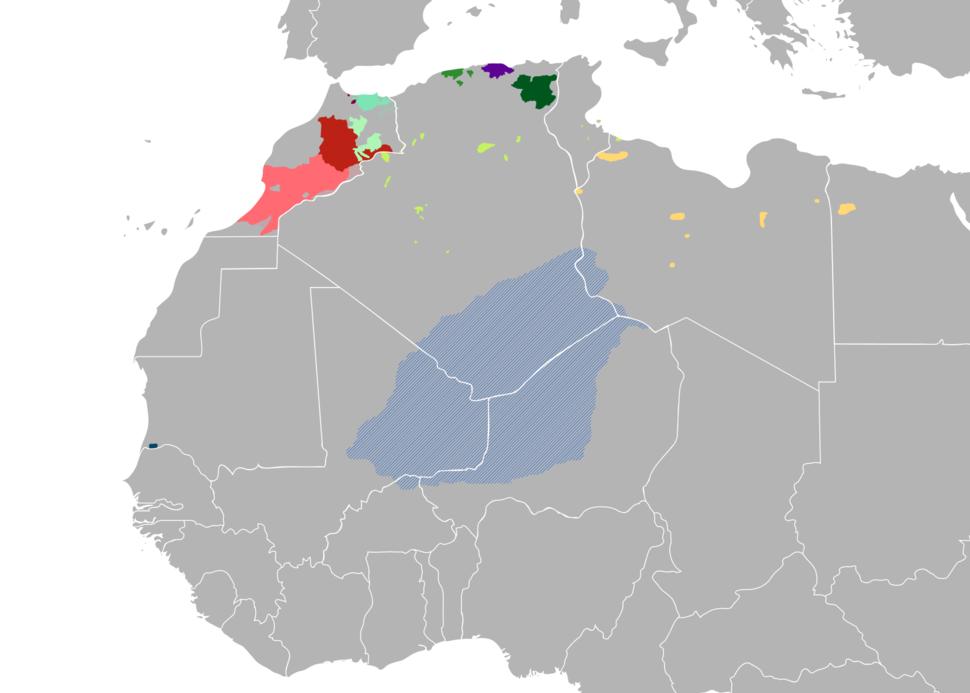 Map of Berber Languages 2018