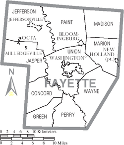 Municipalities and townships of Fayette County