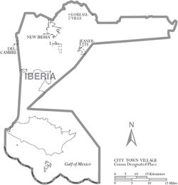 New Iberia Louisiana Map.Iberia Parish Louisiana Wikipedia