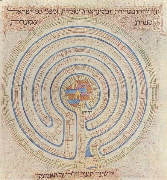 File:Map of Jericho in 14c Farhi Bible by Elisha ben Avraham Crescas.jpg