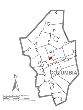 Map of Lightstreet, Columbia County, Pennsylvania Highlighted.png