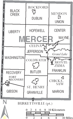 Map of Mercer County Ohio With Municipal and Township Labels.PNG