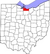 State map highlighting Erie County