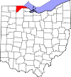 State map highlighting Lucas County