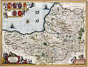 Map of Somerset in 1646