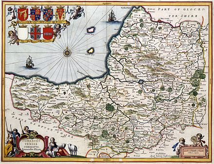 A map of the county in 1646, author unknown Map of Somerset in 1646.jpg