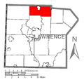Map of Wilmington Township, Lawrence County, Pennsylvania Highlighted.png
