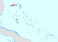 Map of the Bahamas(Grand Bahama Highlighted).png