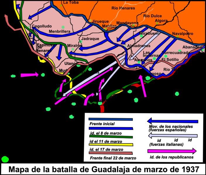 File:Mapa de la batalla de Guadalajara.png