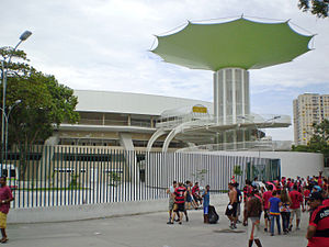 Ginásio do Maracanãzinho - Exterior view of the Maracanãzinho, November 2007