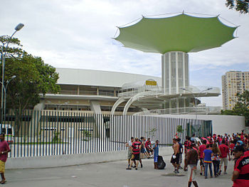 Photograph of Maracanãzinho from street level