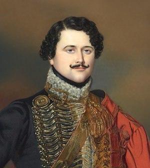Jean Baptiste Antoine Marcellin de Marbot - Marbot as colonel commander of the 7th Hussar Regiment in 1815