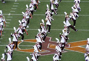 The Marching Virginians - The Marching Virginians perform at Lane Stadium before the Hokies' 2007 opener against the East Carolina Pirates