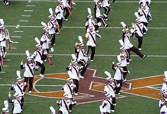 The Marching Virginians - The Marching Virginians perform at Lane Stadium before the Hokies' 2007 opener against the East Carolina Pirates