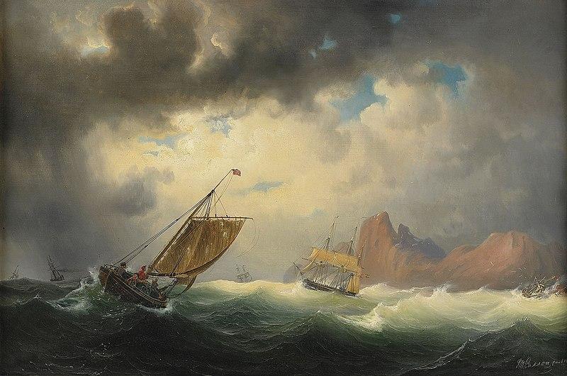 File:Marcus Larson - Skepp pa stormigt hav.jpg