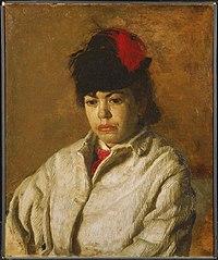 Portrait of Margaret Eakins in a Skating Costume