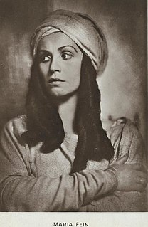 Maria Fein Austrian actress